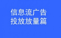 杨涛:信息流广告投放如何放量!